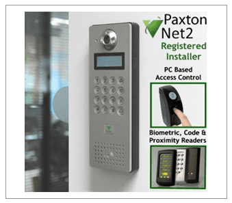 Paxton Net2 banner showing outdoor security point