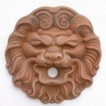 leone in terracotta, leone per fontane