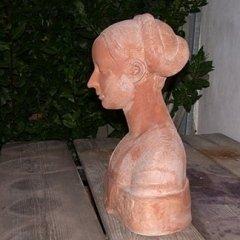 statue in cotto, busti in cotto