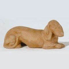 animali in terracotta, cani in terracotta