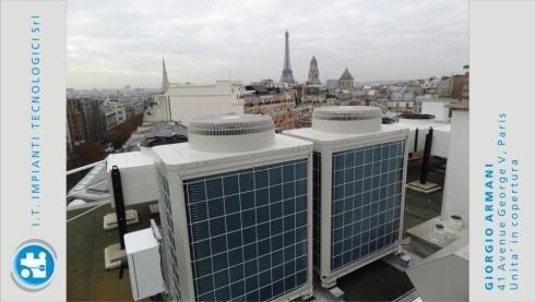 Giorgio Armani - 41 Avenue George V, Paris - Units on the roof