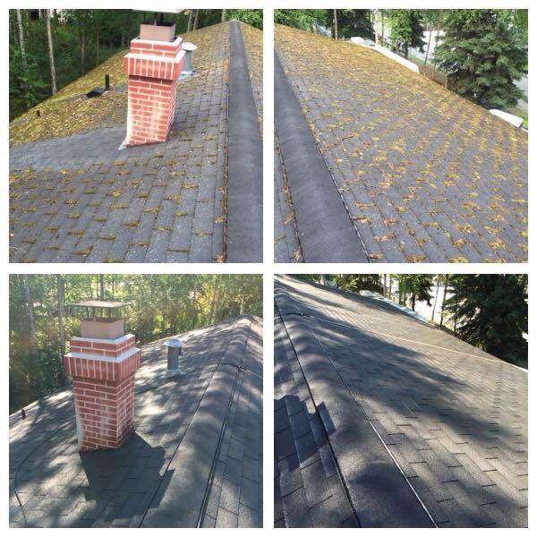 Professional cleaning the gutter in Anchorage AK