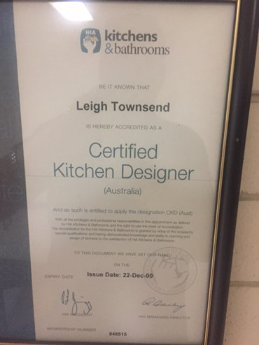 certified kitchen designer certificate