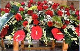 addobbi funebri, corone a lutto, cuscini per bare