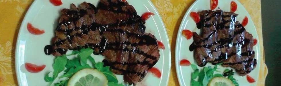 bistecca con aceto balsamico