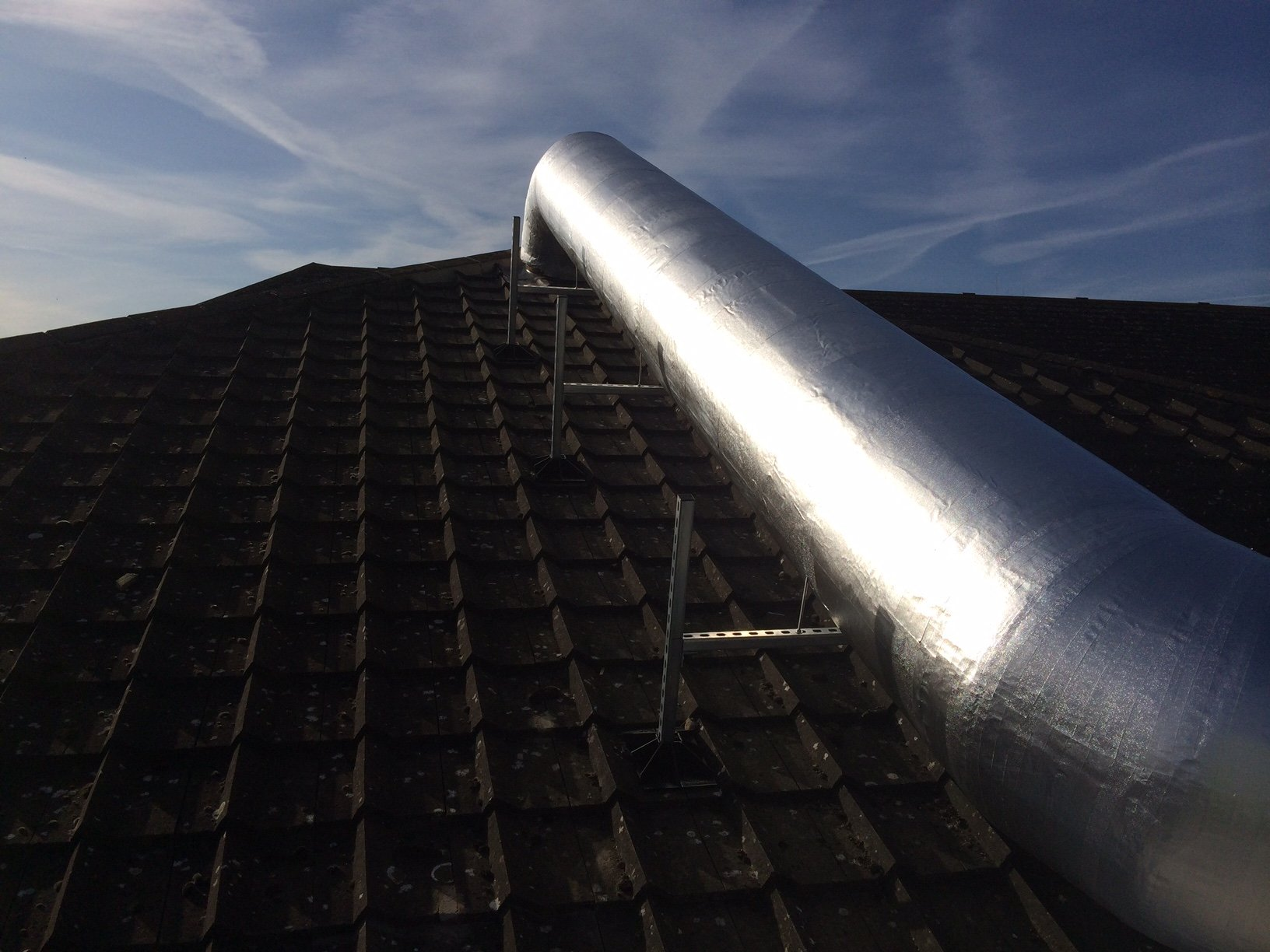 duct on the roofing