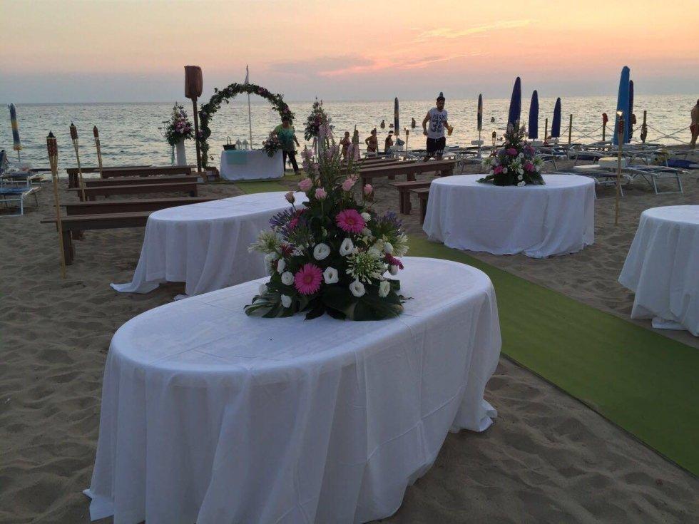 cerimonie in spiaggia, feste in spiaggia, gallipoli