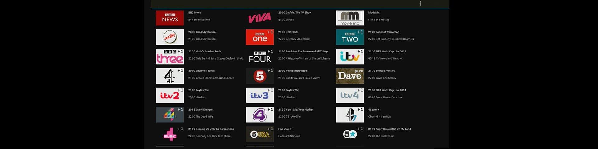 Programme listing