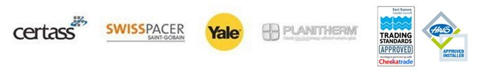 Certass, Swisspacer, yale, Planitherm, Checkatrade company logos