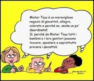 Fumetto promozionale del negozio Mister Toys