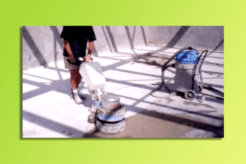 Pulizia basamenti cemento