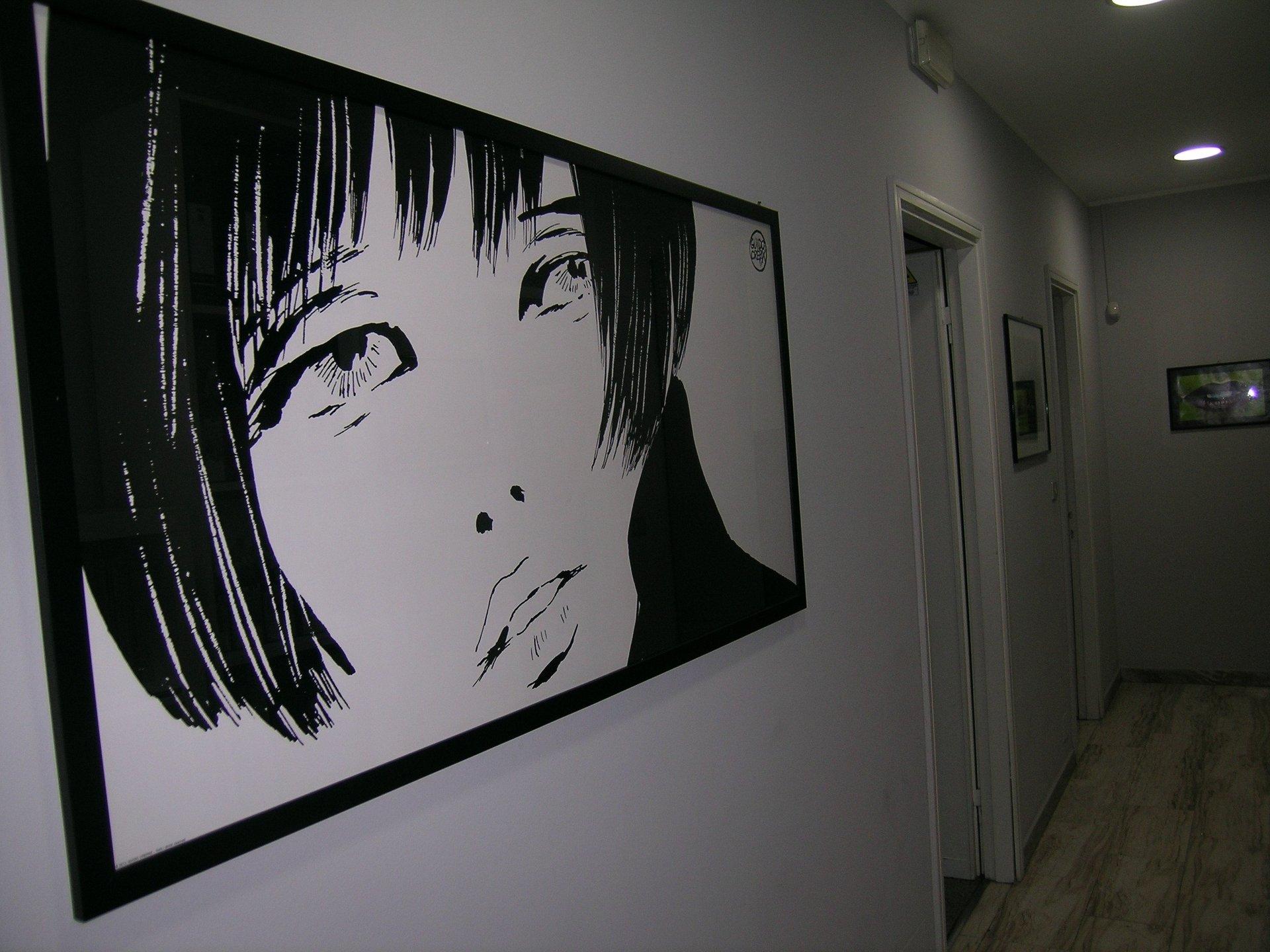 Un quadro in stile Mino Manara