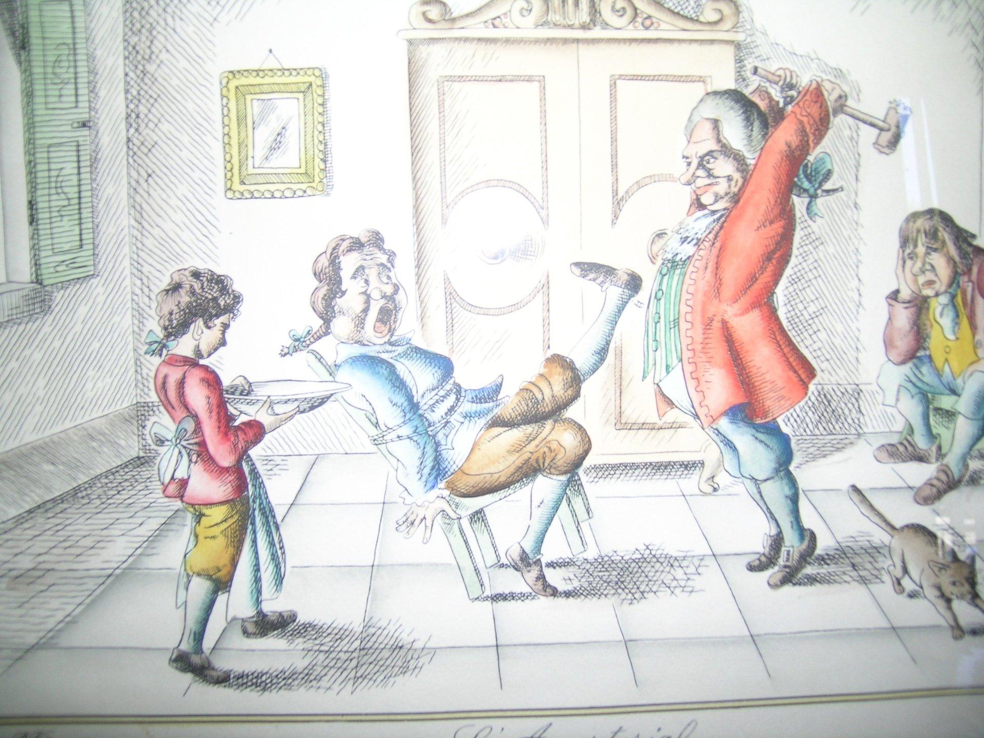 disegno parodia di una visita dal medico