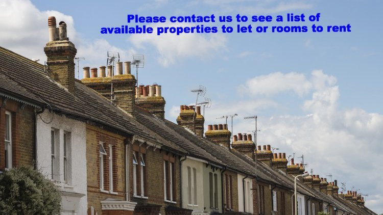 Please contact us to see a list of available properties to let or rooms to rent