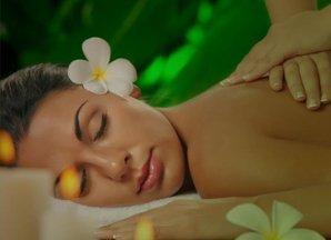 a lady taking a massage  treatment