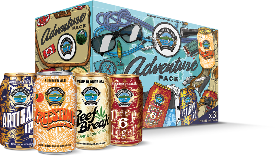 Adventure pack of beer