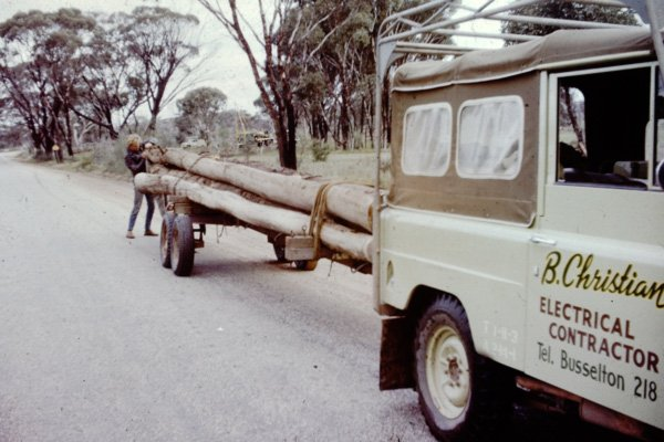 truck hauling logs