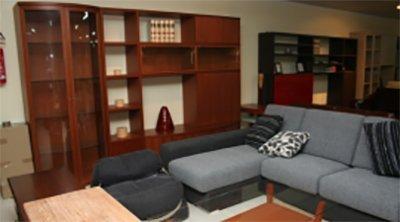 divano con mobile zona giorno