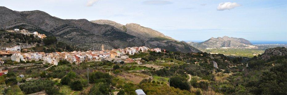 The village of Benimaurell, Vall de Laguar