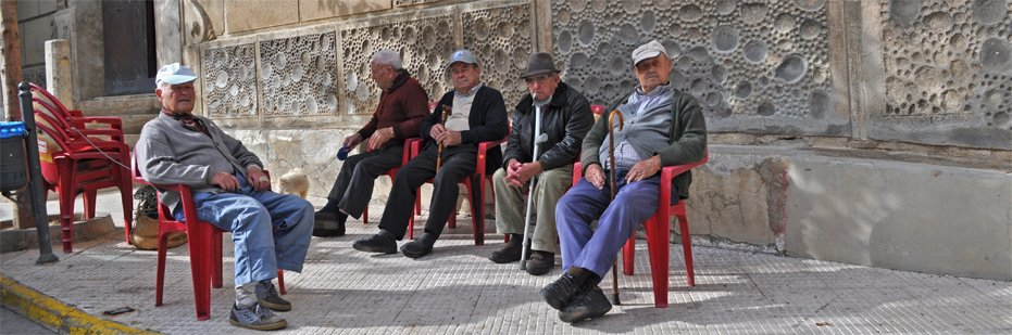 Old men of Tabena passing the day