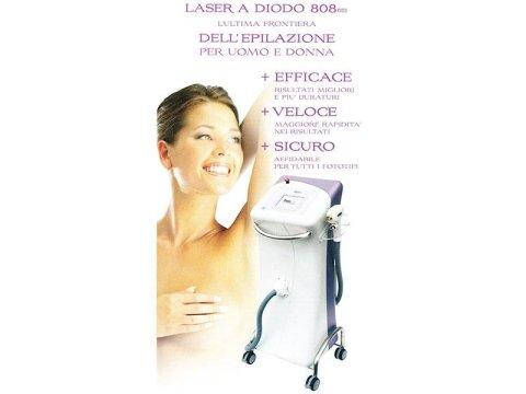 inserto pubblicitario per epilazione laser