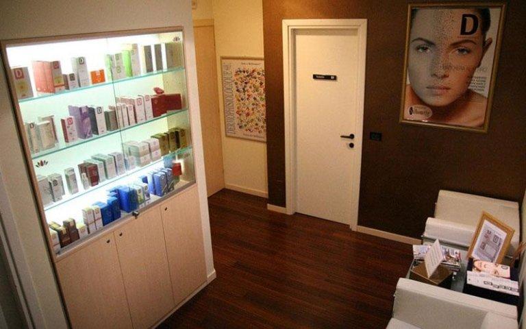 stanza per trattamenti estetici