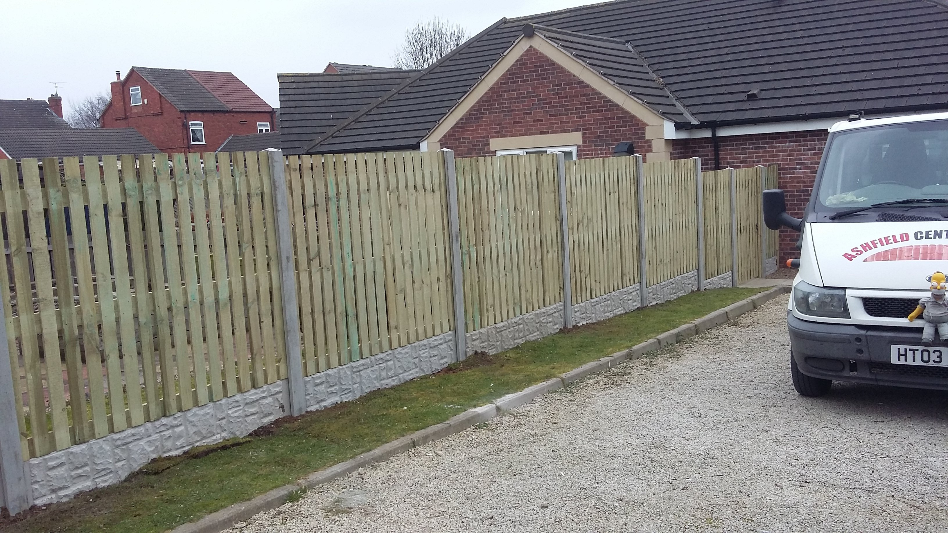 A fence with a curved top