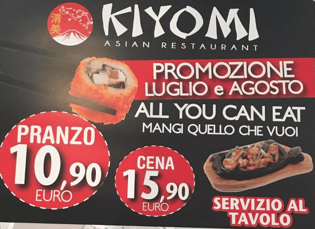 offerta all you can eat