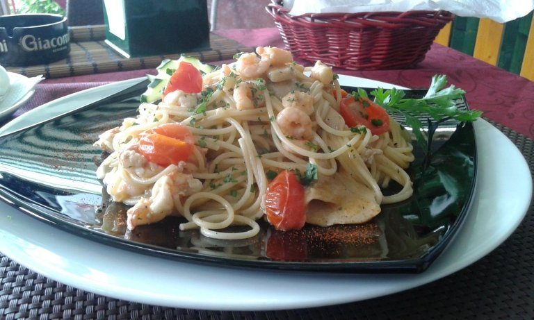 spaghetti a base di pesce