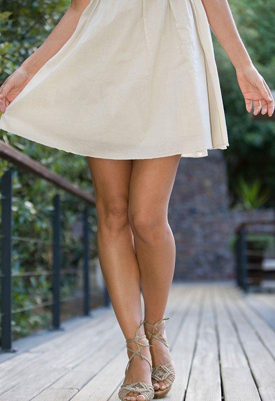 woman with vein-free legs - Northeast Houston Vein Center - Atascacita, Humble, Kingwood TX