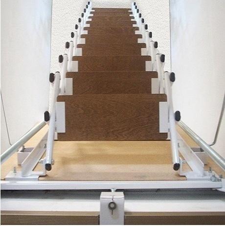 foldaway straight wooden steps