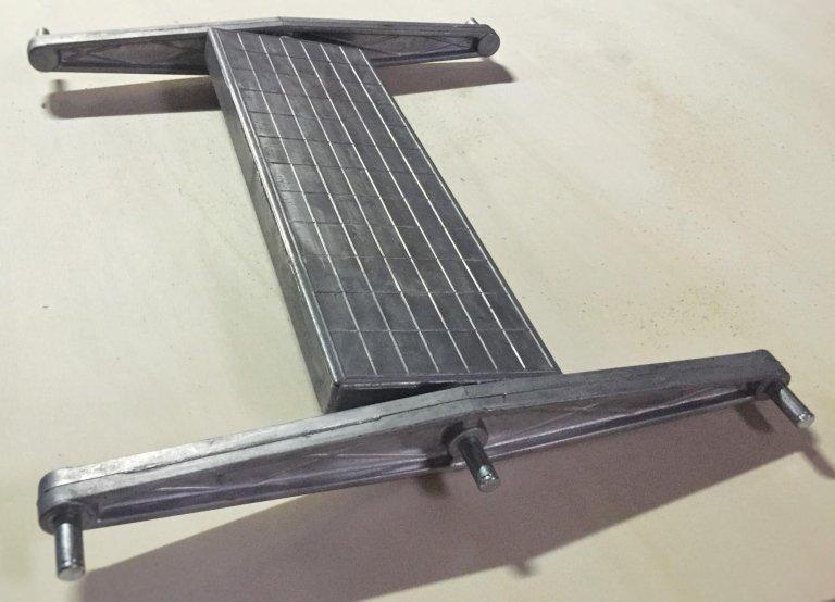 aluminium step