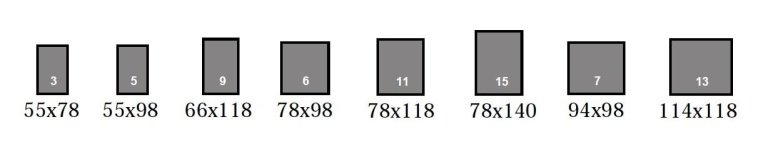 dimensions standards