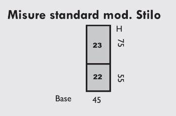 TABLE OF STILO MODEL STANDARD SIZES