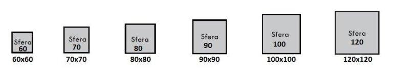 Standard Luxin Sfera model window sizes