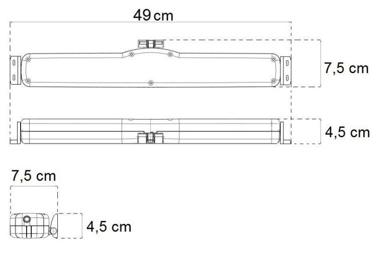 dimensions actionneur à chaîne