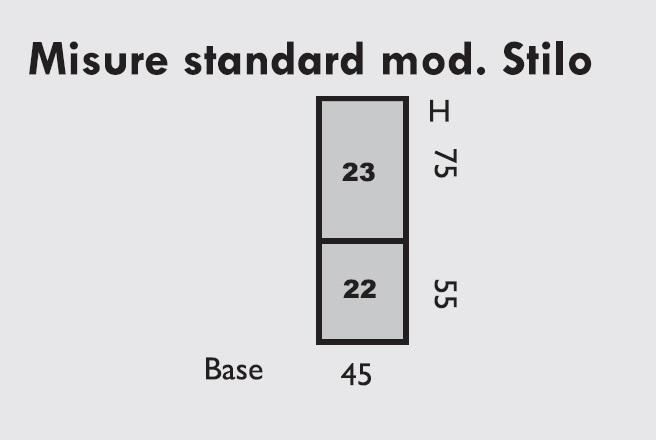 dimensions standard modèle Stilo