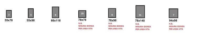 sizes of skylight windows model XL