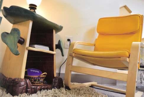 Montessori children's classroom with chair