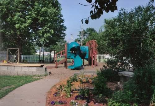 Montessori children's garden playground slider