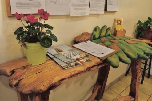 Montessori children's school notebook on a bench