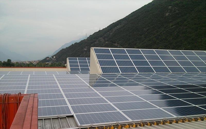 Impianto solare su tetto