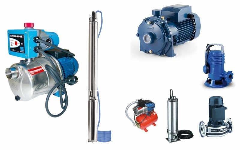 Pompe per irrigazione, pompe di calore e pompe sommerse