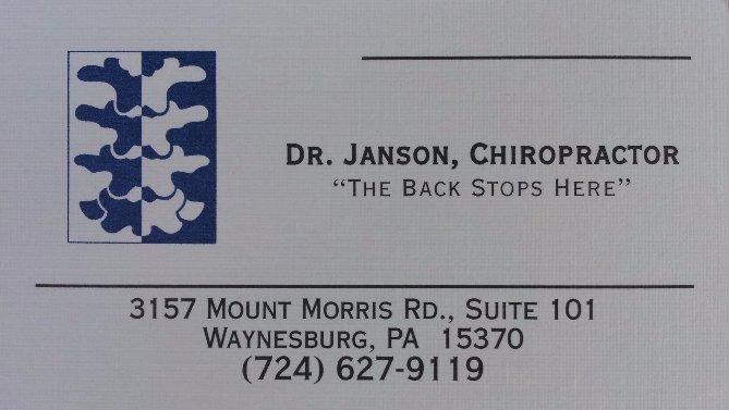 dr. janson chiropractor