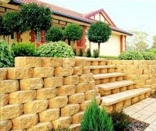 Wall in the Brisbane area made from our retaining wall supplies