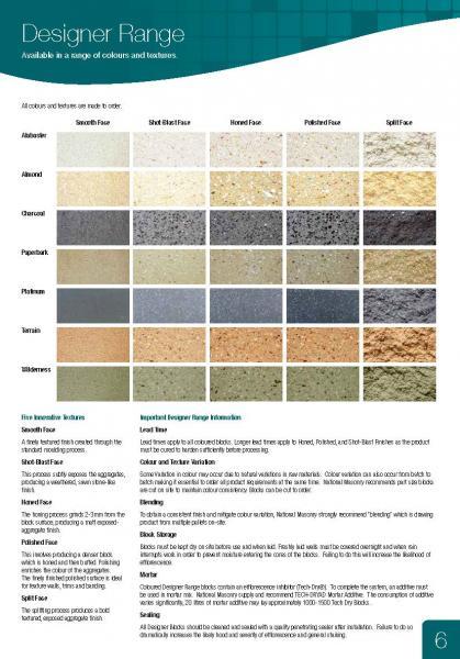 Designer Range Colours