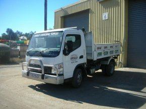 small tip truck up to 4 cubic metre capacity