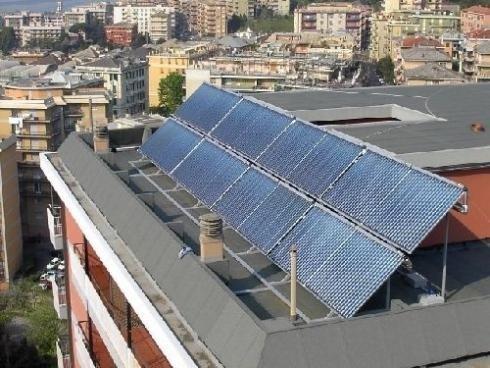 Pannelli solari su terrazzo grugliasco
