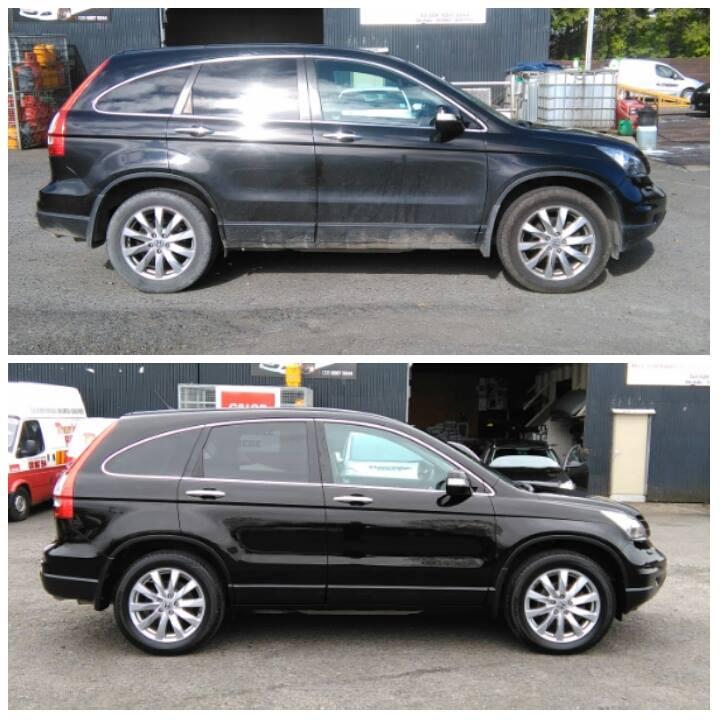 black clean car