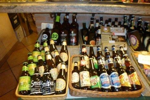 Scelta di birre artigianali.